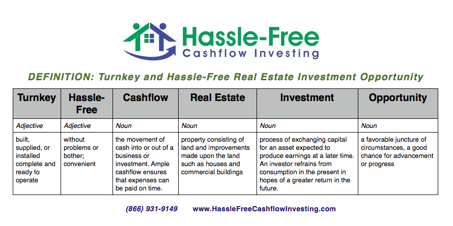 turnkey and hassle free investment opportunities