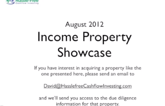 August 2012 - Investment Property Showcase