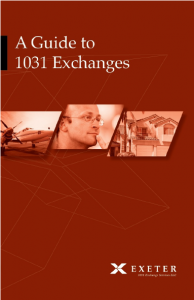 Guide 1031 Exchanges |...1031 Exchange Is It Worth The Hassle Forum