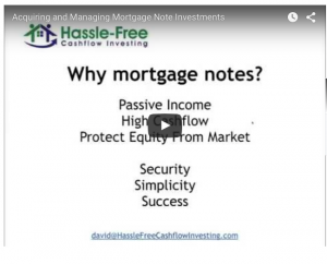 acquiring and managing mortgage note investments