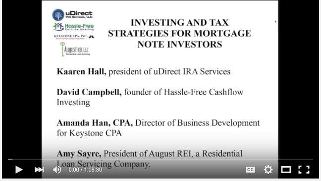 investing and tax strategies for mortgage investors