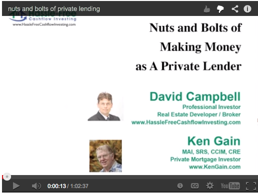 nuts and bolts of being a private lender with david campbell and ken gain